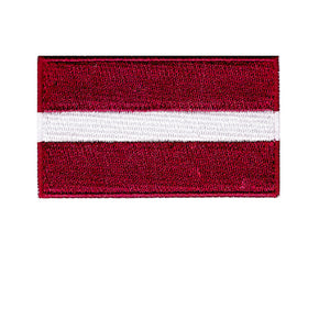 latvia flag country Iron On Patch Sew on transfer
