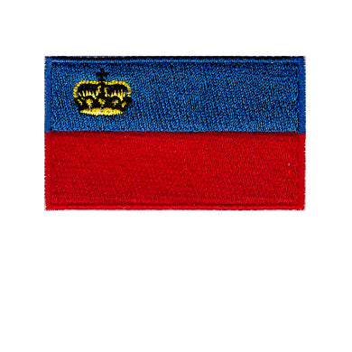 Liechtenstein Country Flag Iron On Patch Sew On transfer