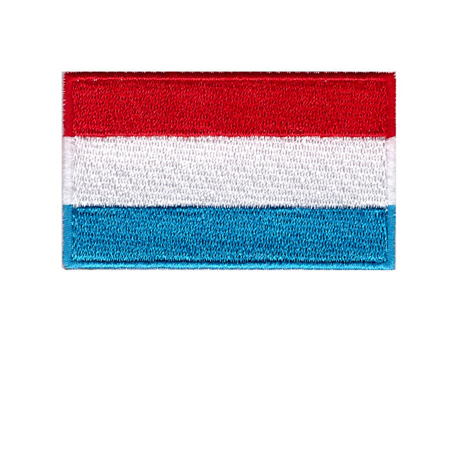 Luxembourg national country flag Iron On Patch Sew on Transfer
