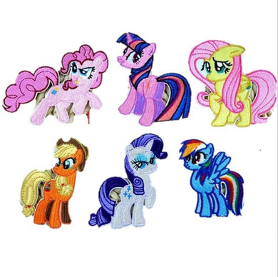 My little Pony Iron on Patches set of 6