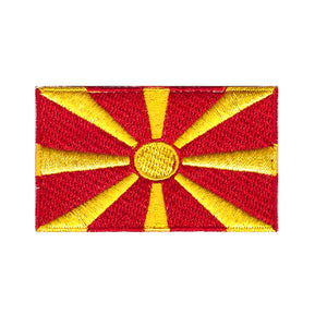Macedonia Macedonian country flag country Iron On Patch Sew on Transfer