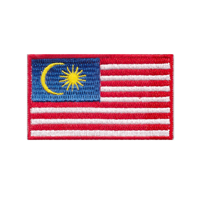 Malaysia Country Iron On Patch Sew On Transfer