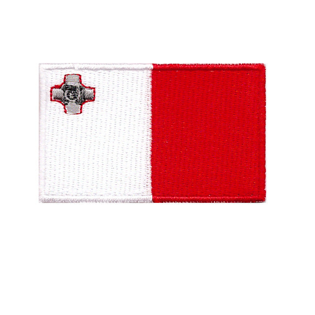 Malta Country Flag Iron On Patch Sew on Transfer