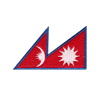 Nepal Country Flag Iron On Patch Sew On transfer