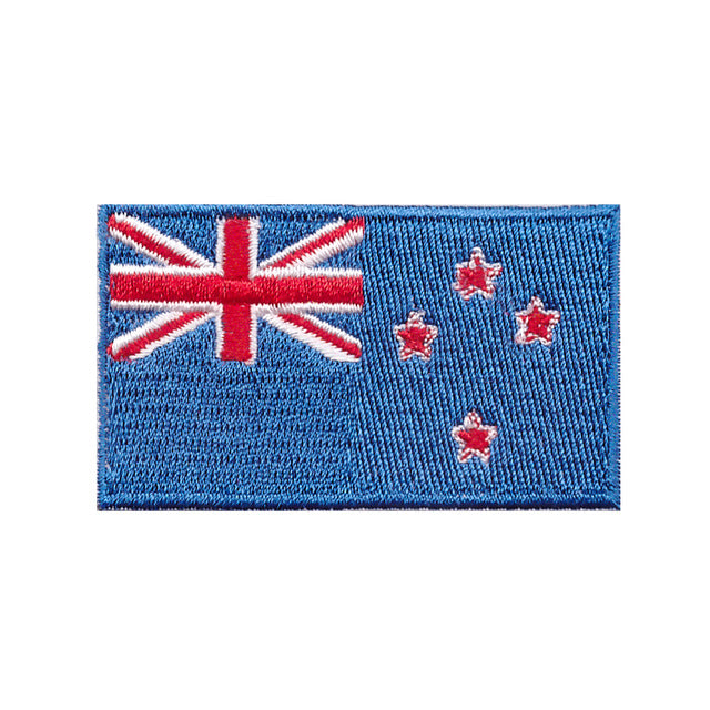 New Zealand Country Flag Iron On Patch Sew on Transfer