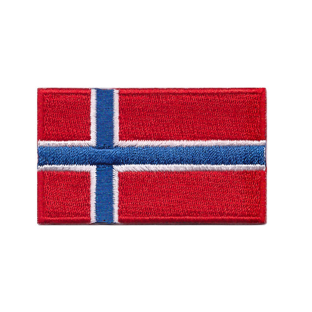Norway Country Flag Iron On Patch Sew On Transfer