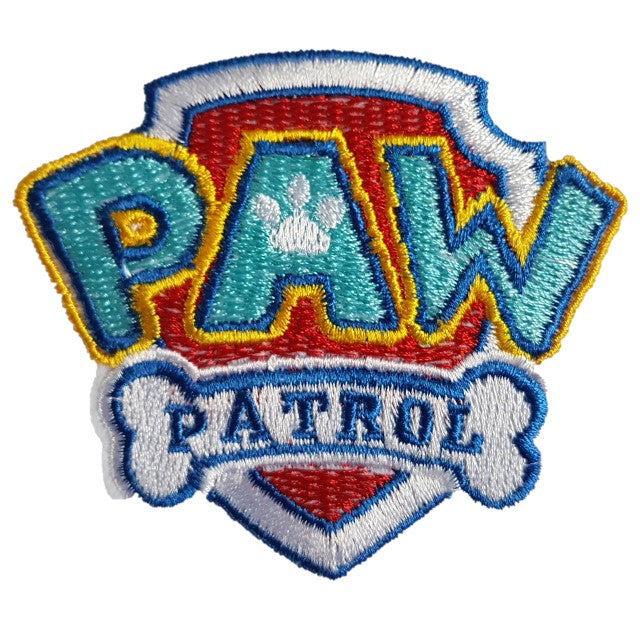 Paw Patrol Logo TV Show Iron On Patch Sew On Transfer