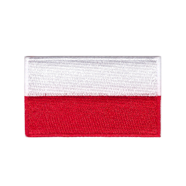 poland flag iron on patch sew on transfer