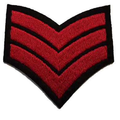 Red Sargent stripes Sargent chevrons iron on patch sew on transfer