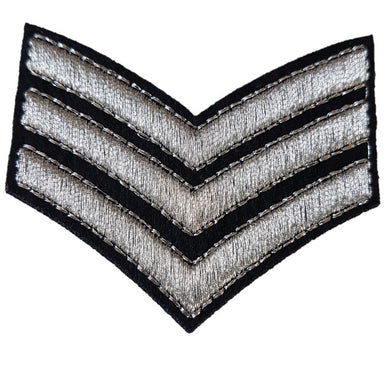 silver stitched Sargent iron on patch iron on patch sew on transfer