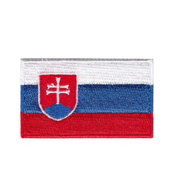 Slovakia Country National flag Iron On Patch Sew On Transfer