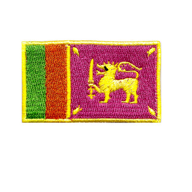 Sri Lanka Country Flag Iron On Patch Sew On transfer
