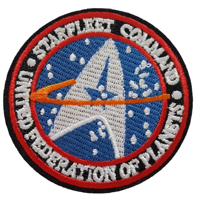 star trek starfleet command iron on patch sew on transfer logo