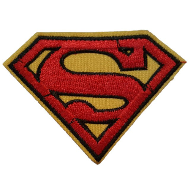 Superman Symbol Red and Yellow S Iron On Patch Sew On Transfer