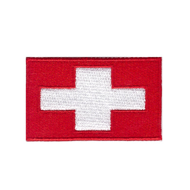 flag of Switzerland Swiss country national flag Iron On Patch Sew On transfer
