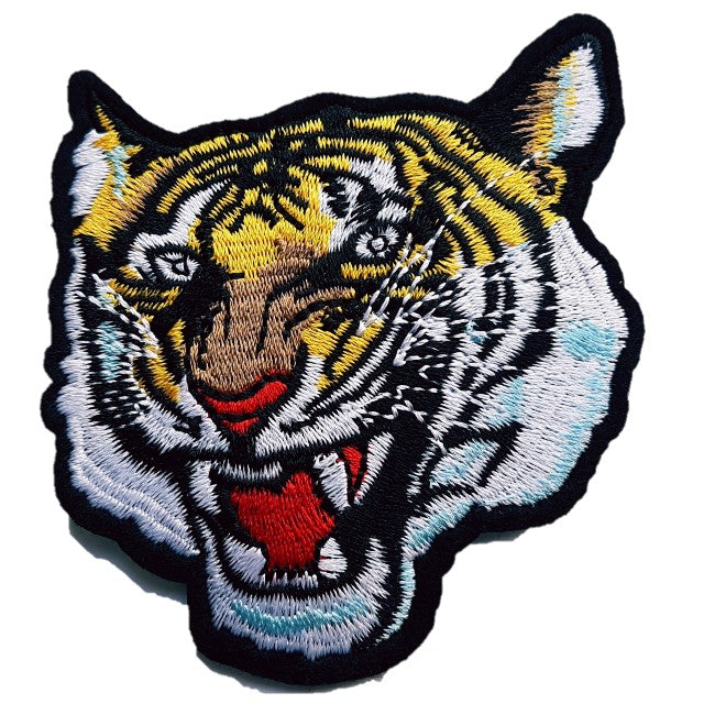 High Quality Tiger Roaring Face Iron On Patch Sew on Transfer