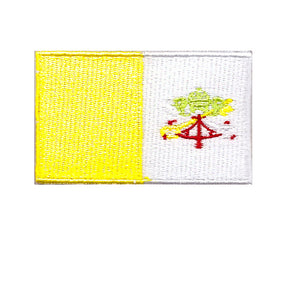 the vatican city country national flag iron on patch sew on transfer