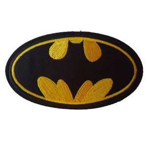 batman logo black and yellow iron on patch