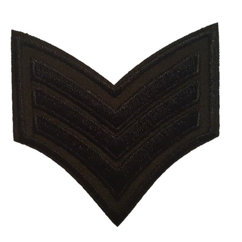 black and green Sargent stripes iron on patch sew on transfer