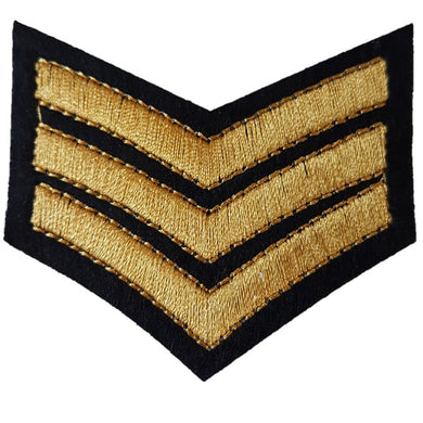 Bronze Sargent stripes iron on patch sew on transfer