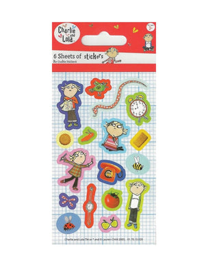 Charlie and Lola - Party Bag Stickers (6 Sheets of Stickers)