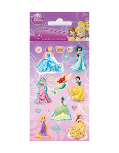 Disney Princess - Party Bag Stickers (6 Sheets of Stickers)
