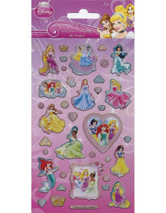 Disney Princess - Foiled Stickers 1 sheet