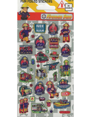 Fireman Sam - Foiled Stickers 1 sheet
