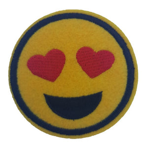 emoji heart eyes emoji iron on patch sew on transfer