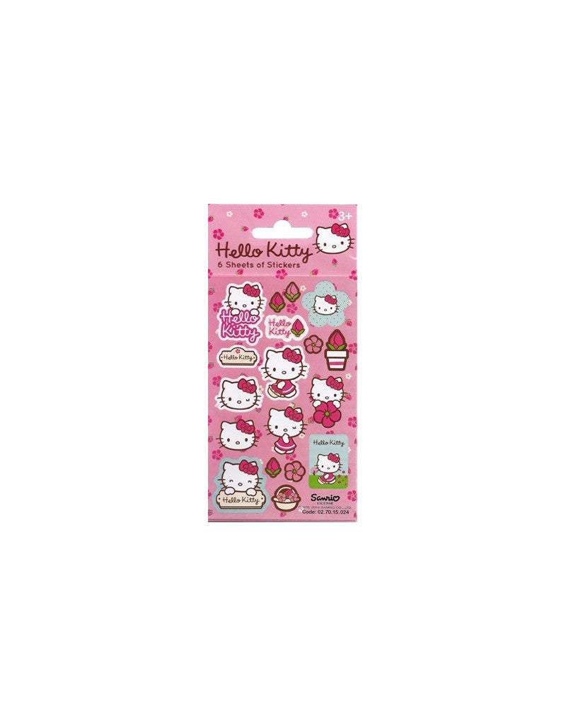 Hello Kitty - Party Bag Stickers (6 Sheets of Stickers)