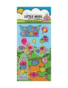 Little Miss - Party Bag Stickers (6 Sheets of Stickers)