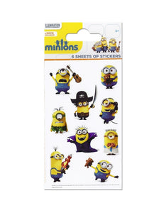 Minions - Party Bag Stickers (6 Sheets of Stickers)
