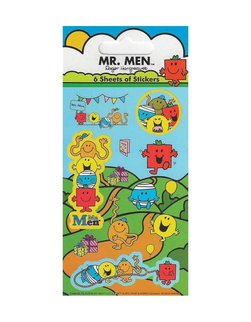 Mr Men - Party Bag Stickers (6 Sheets of Stickers)