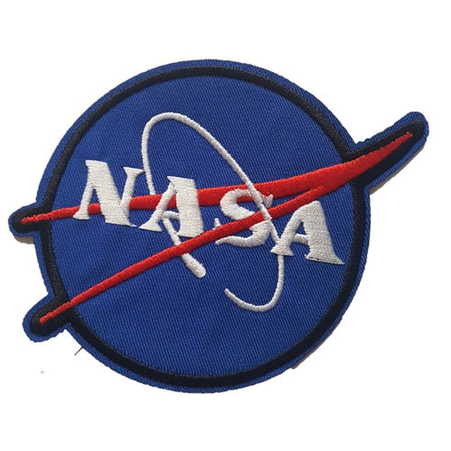 nasa blue iron on patch military style logo Sew on transfer