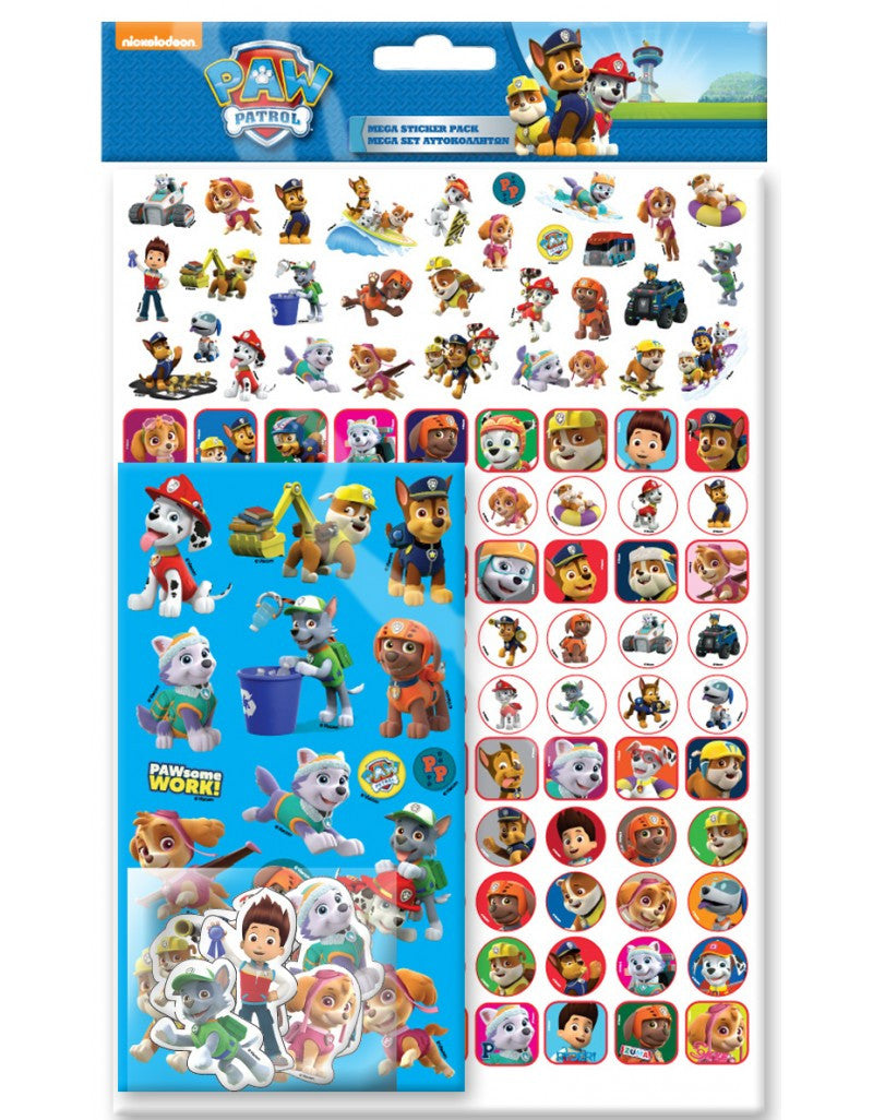 Paw Patrol - Mega Pack sticker pack over 150 stickers