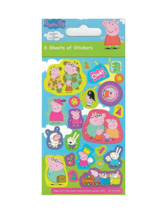Peppa Pig - Party Bag Stickers (6 Sheets of Stickers)
