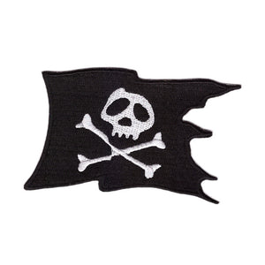 Pirate Skull and Crossbones Flag Iron On Patch Sew on Transfer