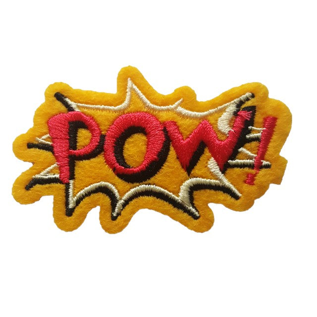Comic book style POW Iron On Patch / Sew On Transfer