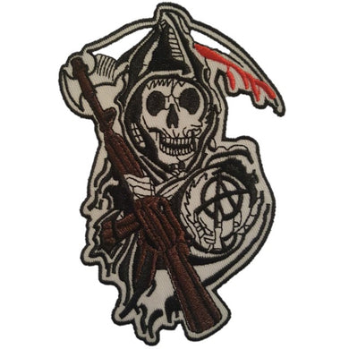 Sons Of Anarchy style Reaper Grim Reaper Iron On Patch Sew on Transfer