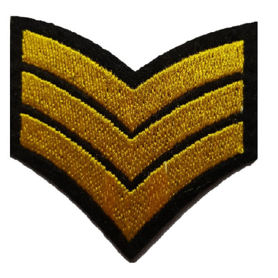 Yellow Sargent stripes Sargent chevrons iron on patch sew on transfer