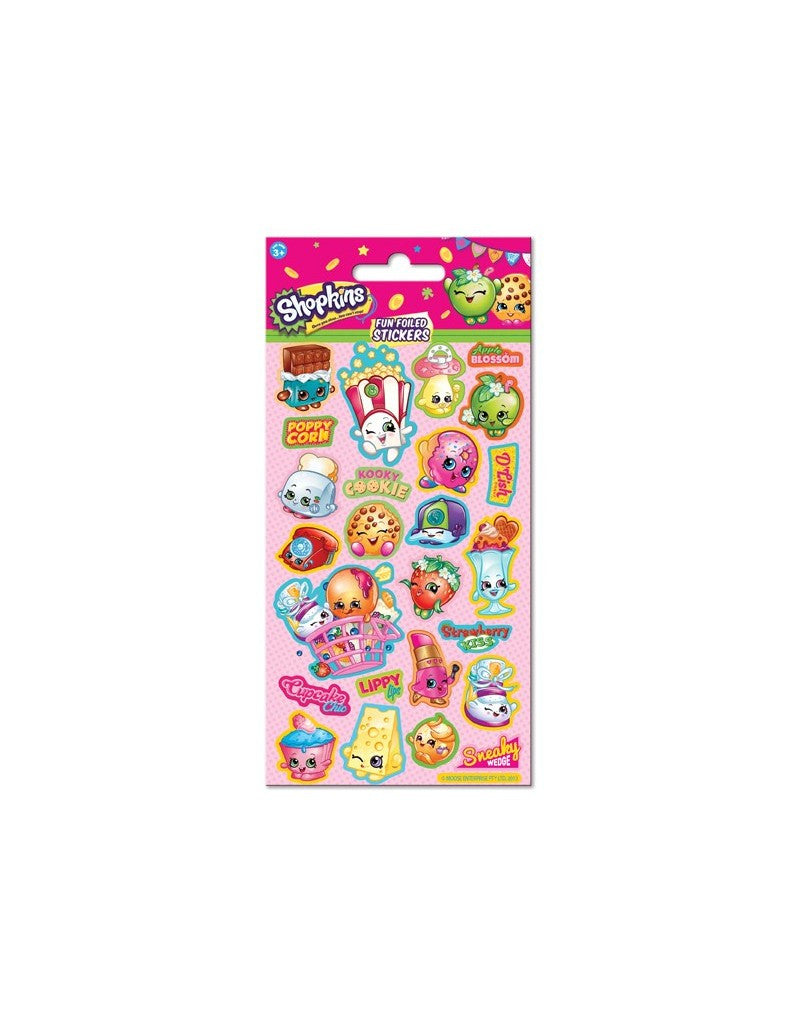 Shopkins - Foiled Stickers 1 sheet