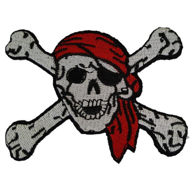 Pirate Skull and Crossbones Iron On Patch Sew On Transfer