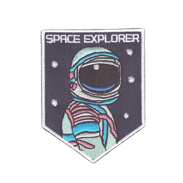 Space Explorer Iron On Patch sew on transfer