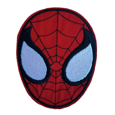 spiderman head iron on patch