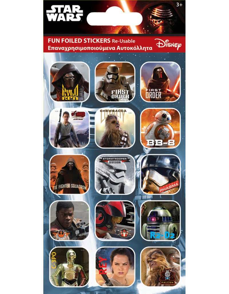 Star Wars Captions The Force Awakens - Foiled Stickers 1 sheet