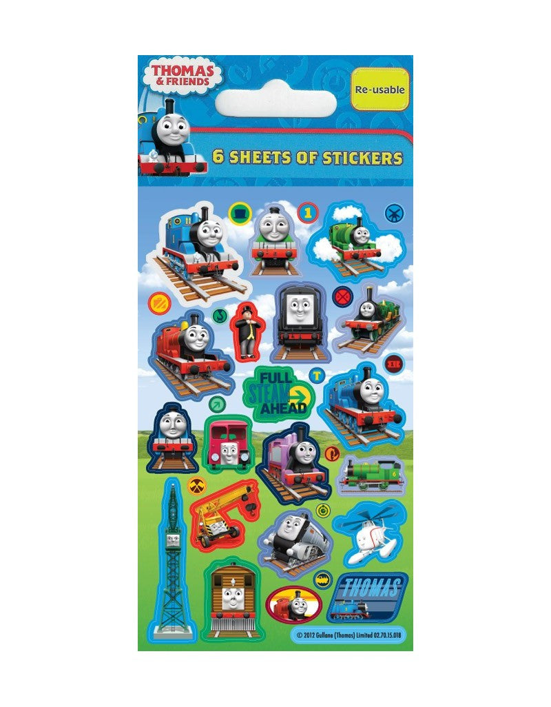 Thomas The Tank Engine - Party Bag Stickers (6 Sheets of Stickers)