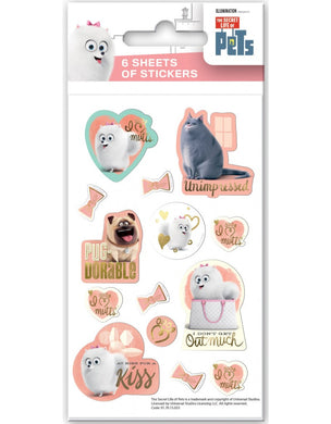The Secret Life of Pets - Party Bag Stickers (6 Sheets of Stickers)