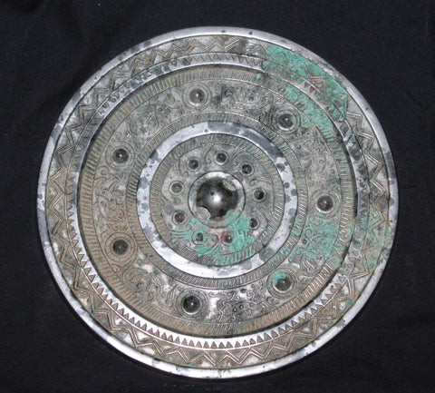 A Han Dynasty bronze mirror.