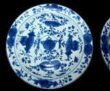 A pair of blue and white porcelain dishes. - asianartlondon