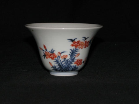 A Japanese Kakiemon tea bowl.